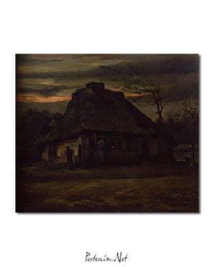 Vincent Van Gogh La Chaumière poster