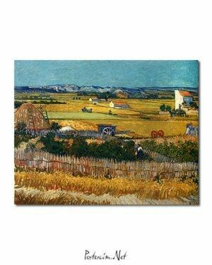 Vincent Van Gogh La Moisson poster