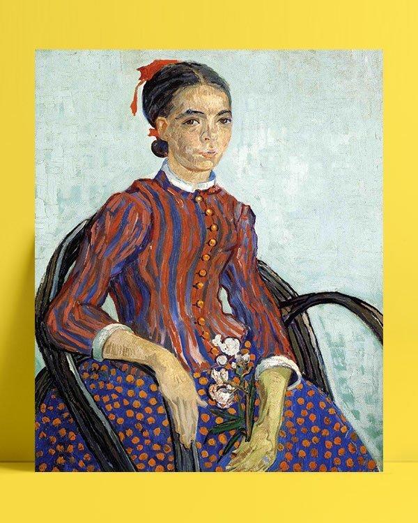 Vincent Van Gogh La Mousmé Oil on canvas afis