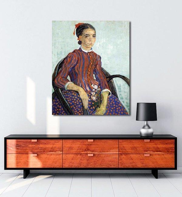 Vincent Van Gogh La Mousmé Oil on canvas tablo