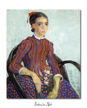 Vincent Van Gogh La Mousmé Oil on canvas poster