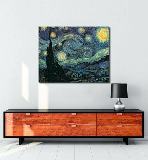 Vincent Van Gogh La Nuit étoilée tablo