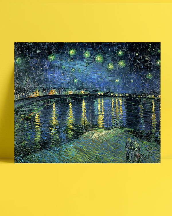 Vincent Van Gogh La Nuit étoilée The Starlight night afis