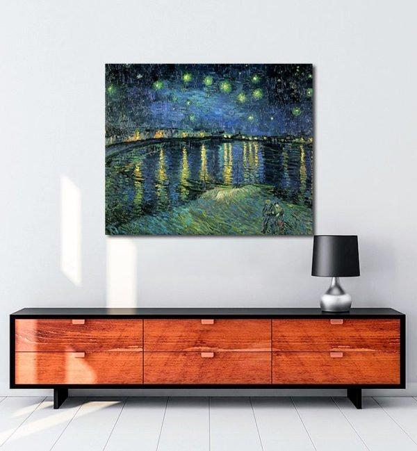 Vincent Van Gogh La Nuit étoilée The Starlight night tablo