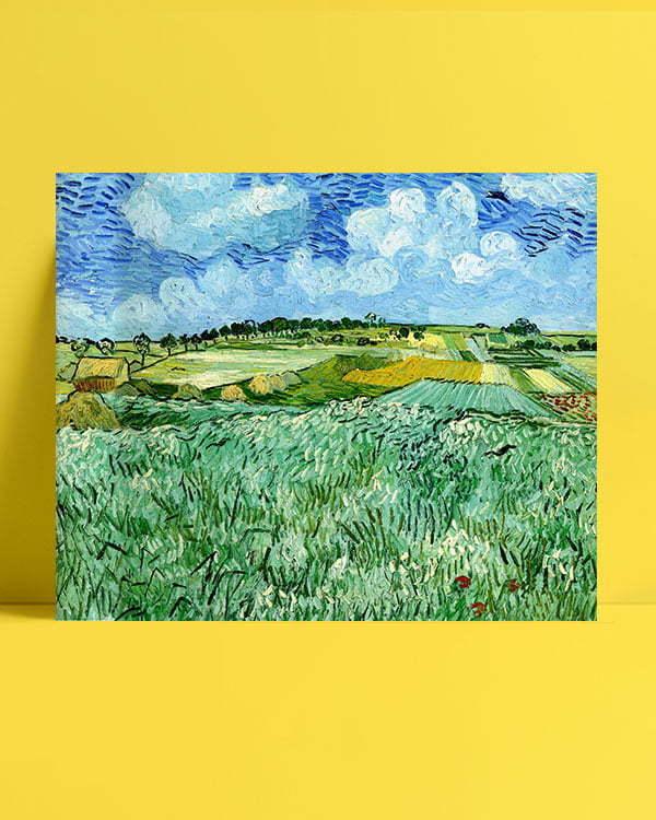 Vincent Van Gogh La Plaine prèx d'Auvers afis