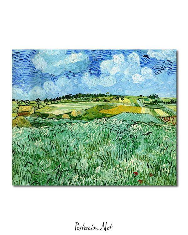Vincent Van Gogh La Plaine prèx d'Auvers poster
