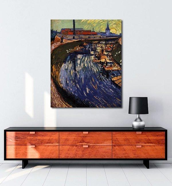 Vincent Van Gogh La Roubine du Roi tablo