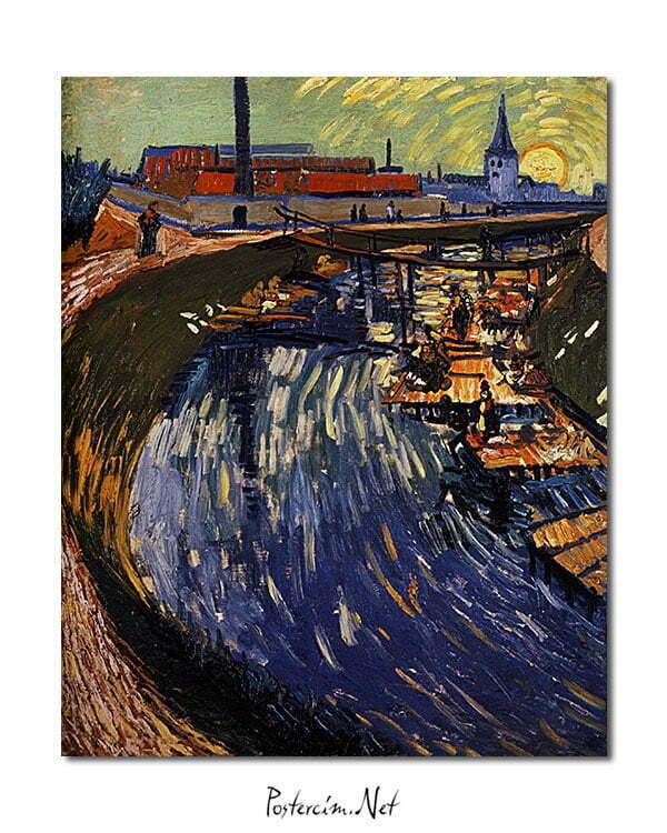 Vincent Van Gogh La Roubine du Roi poster