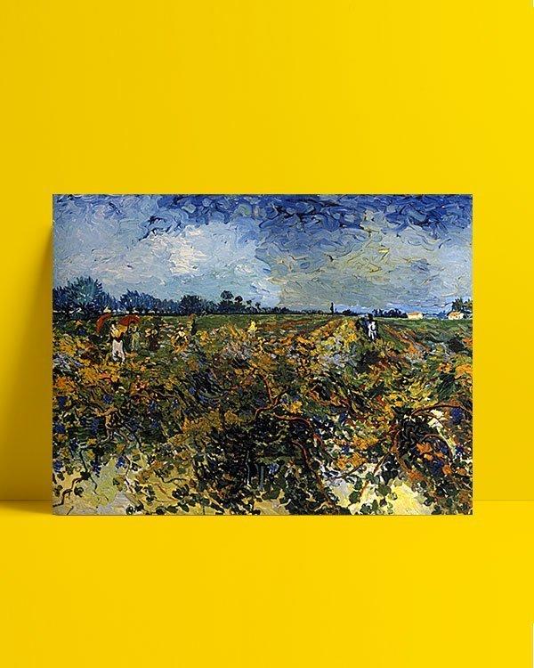 Vincent Van Gogh La Vigne verte afis