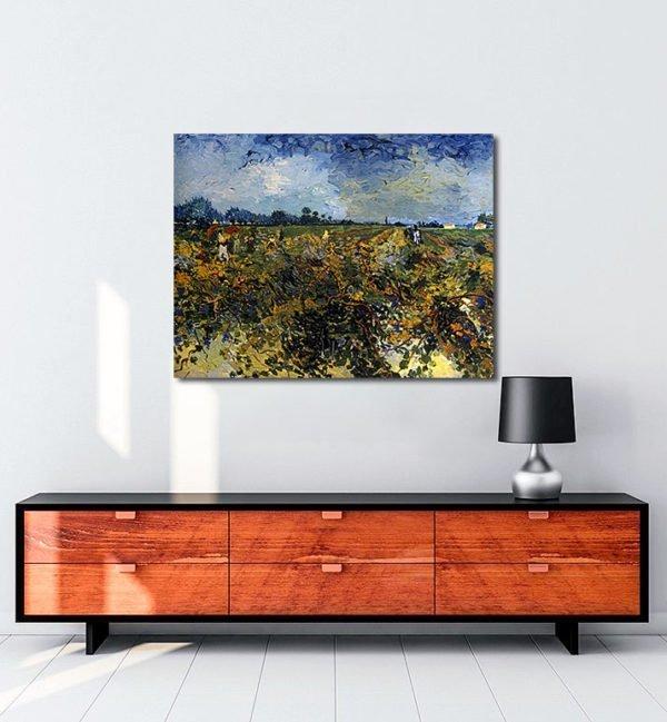 Vincent Van Gogh La Vigne verte tablo