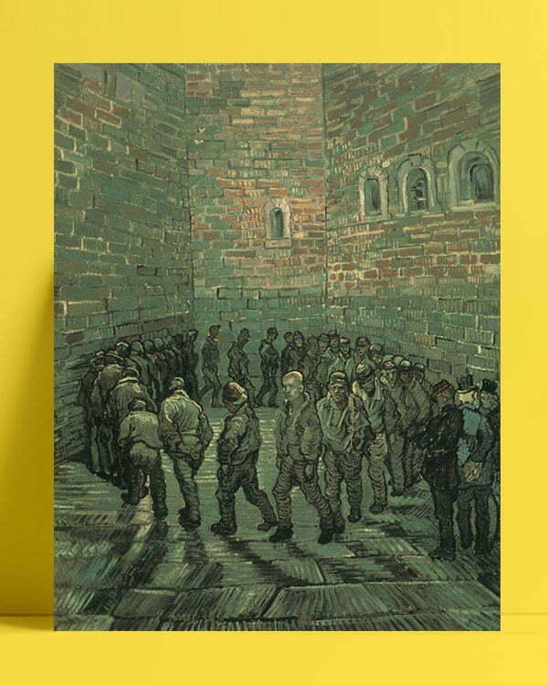 Vincent Van Gogh La cour de prison afis