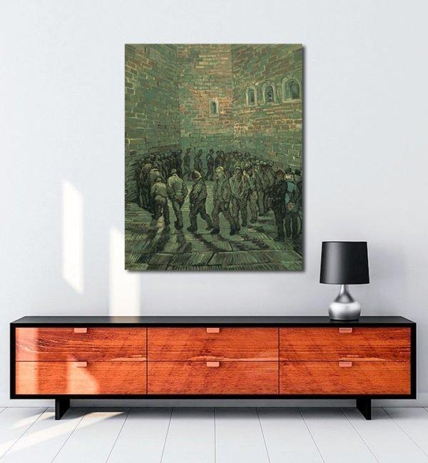 Vincent Van Gogh La cour de prison tablo