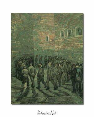 Vincent Van Gogh La cour de prison poster