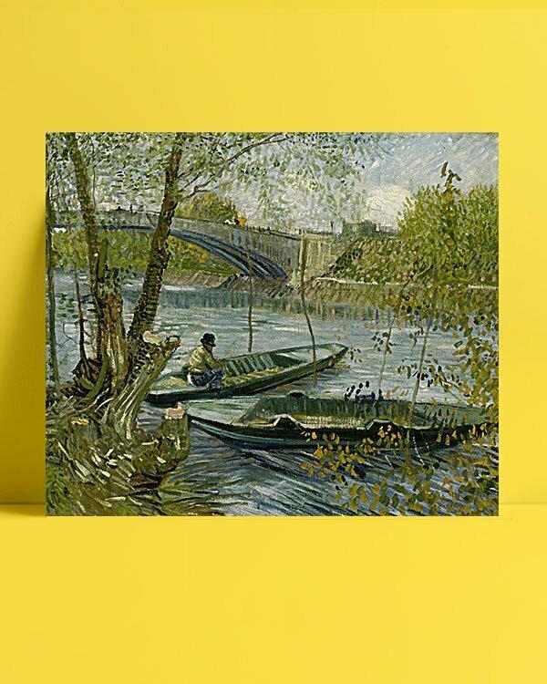 Vincent Van Gogh La pêche au printemps afis