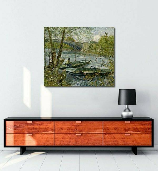 Vincent Van Gogh La pêche au printemps tablo