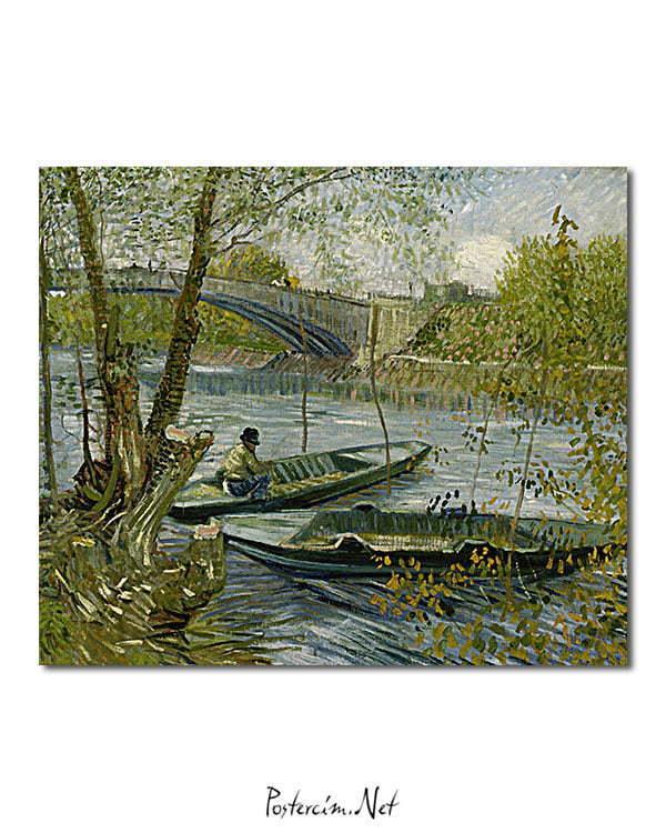 Vincent Van Gogh La pêche au printemps poster