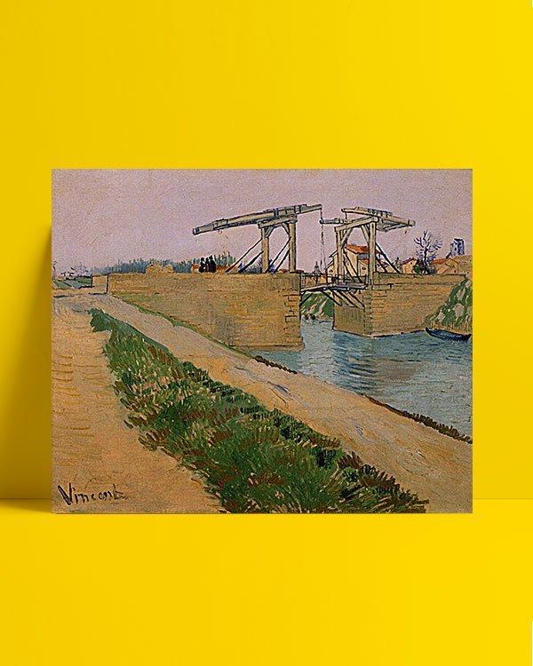 Vincent Van Gogh Langlois Bridge at Arles afis