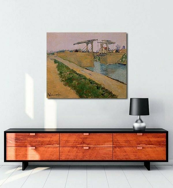 Vincent Van Gogh Langlois Bridge at Arles tablo