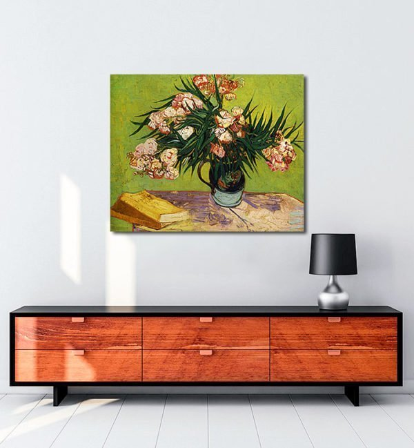 Vincent Van Gogh Lauriers-roses tablo