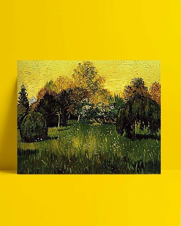 Vincent Van Gogh Le Jardin du Poète afis