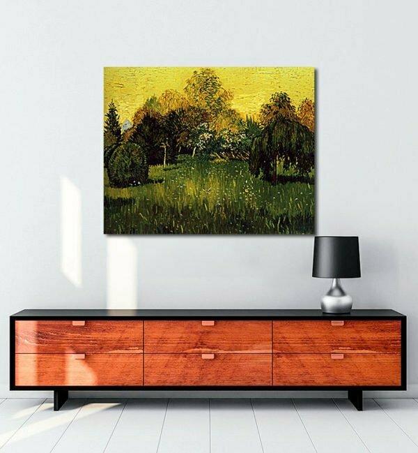 Vincent Van Gogh Le Jardin du Poète tablo