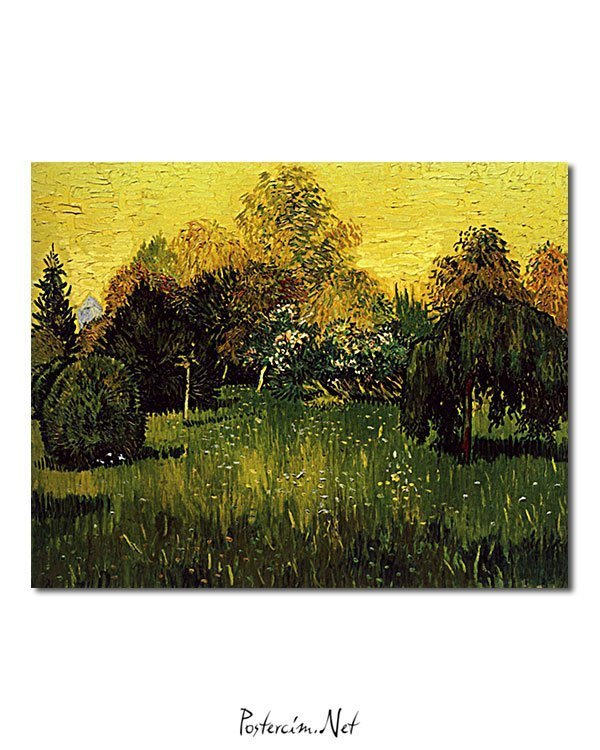 Vincent Van Gogh Le Jardin du Poète poster