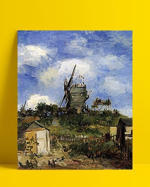 Vincent Van Gogh Le Moulin de la Galette Montmatre afis