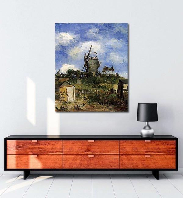 Vincent Van Gogh Le Moulin de la Galette Montmatre tablo