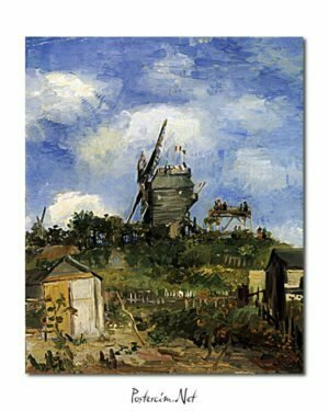 Vincent Van Gogh Le Moulin de la Galette Montmatre poster
