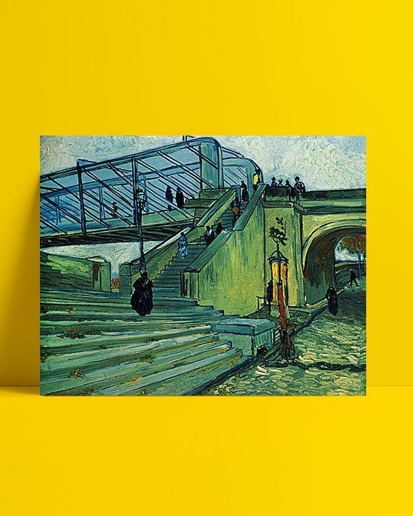 Vincent Van Gogh Le Pont métallique de Trinquetaille afis