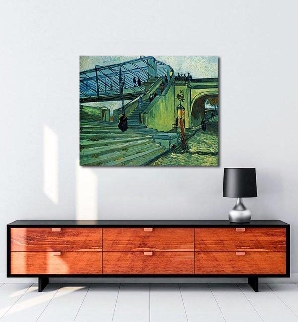 Vincent Van Gogh Le Pont métallique de Trinquetaille tablo