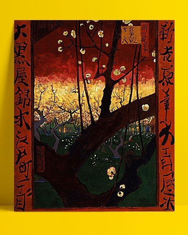 Vincent Van Gogh Le Prunier en fleur d'après Hiroshige afis
