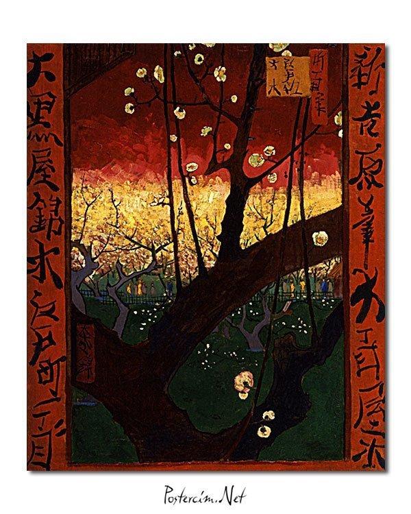 Vincent Van Gogh Le Prunier en fleur d'après Hiroshige poster