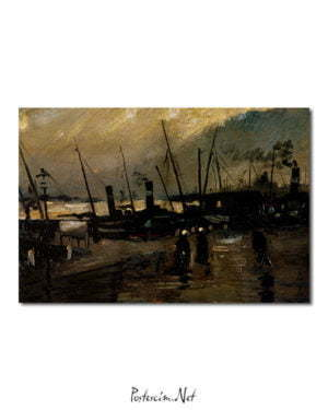 Vincent Van Gogh Le Quai poster