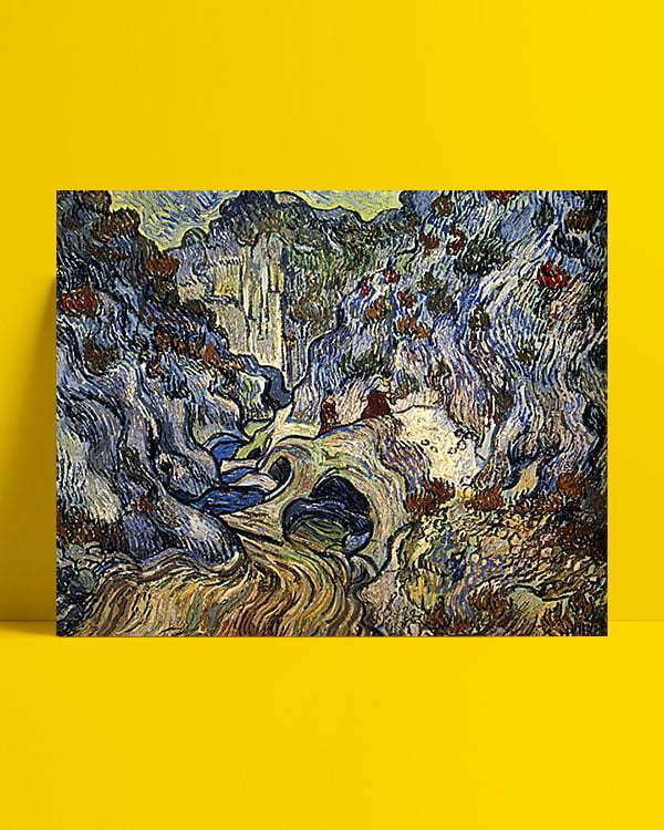 Vincent Van Gogh Le Ravin, les Peiroulets afis