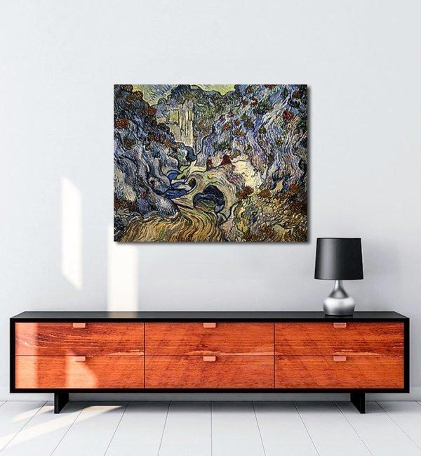 Vincent Van Gogh Le Ravin, les Peiroulets tablo