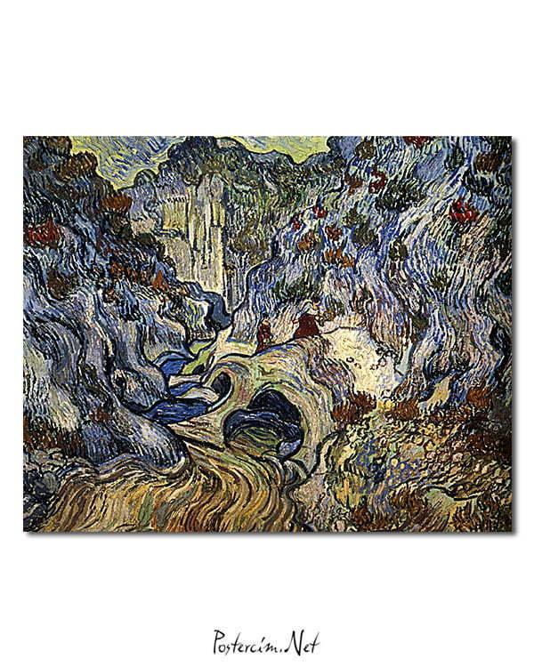 Vincent Van Gogh Le Ravin, les Peiroulets poster