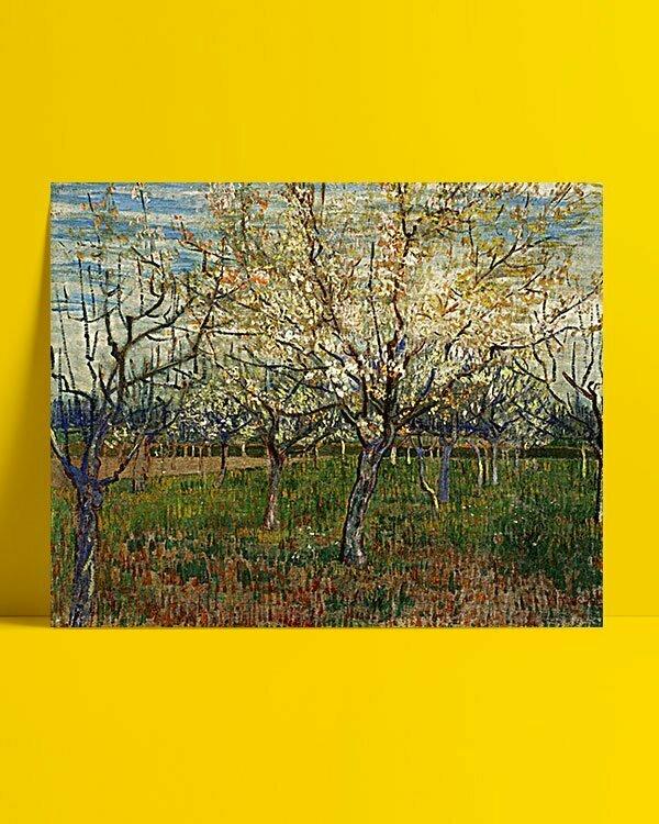 Vincent Van Gogh Le Verger Rose afis