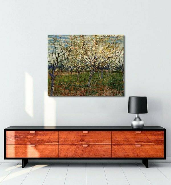 Vincent Van Gogh Le Verger Rose tablo