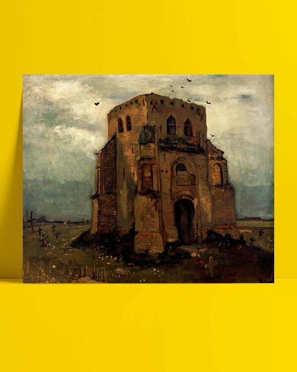 Vincent Van Gogh Le Vieux clocher de Nuenen afis