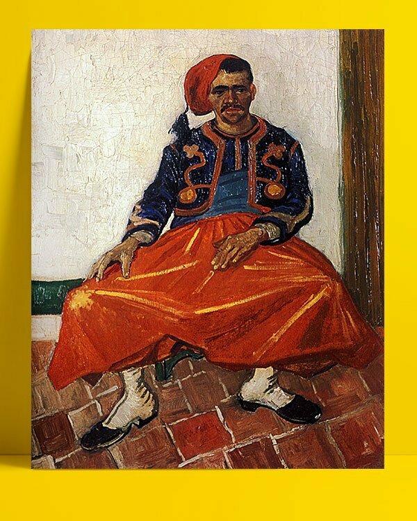 Vincent Van Gogh Le Zouave afis