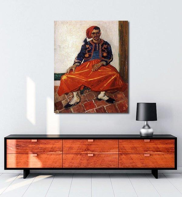 Vincent Van Gogh Le Zouave tablo