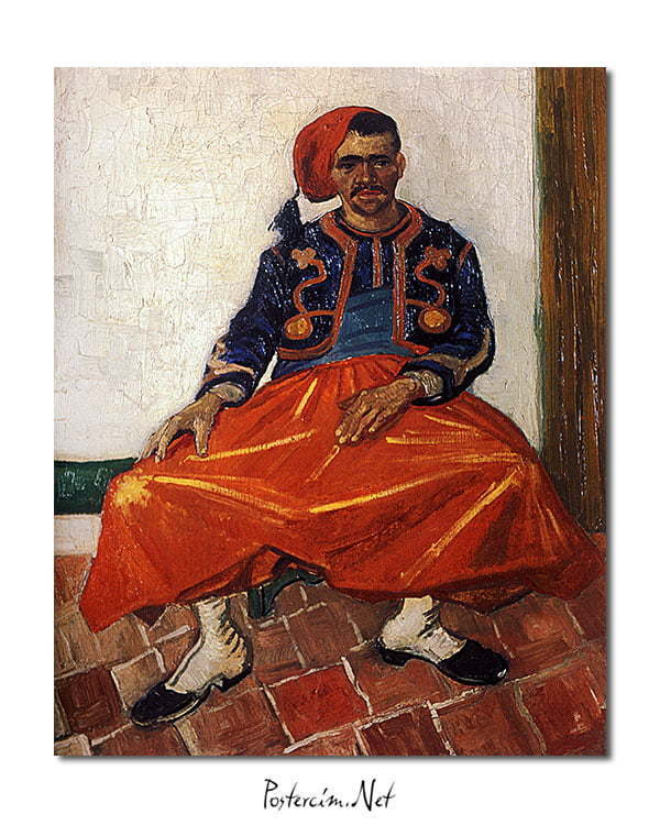 Vincent Van Gogh Le Zouave poster