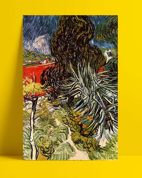 Vincent Van Gogh Le jardin du docteur Gachet à Auvers-sur-Oise afis