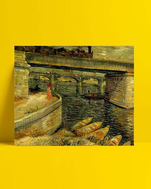 Vincent Van Gogh Le pont d'Asnières The bridge of Asnières afis