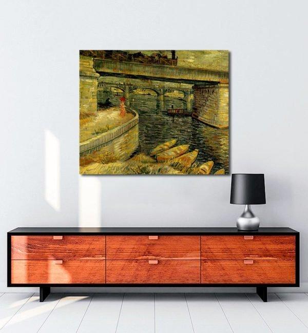 Vincent Van Gogh Le pont d'Asnières The bridge of Asnières tablo