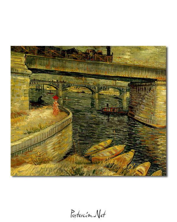 Vincent Van Gogh Le pont d'Asnières The bridge of Asnières poster