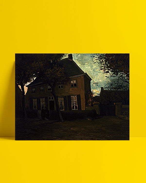 Vincent Van Gogh Le presbytère de Nuenen afis