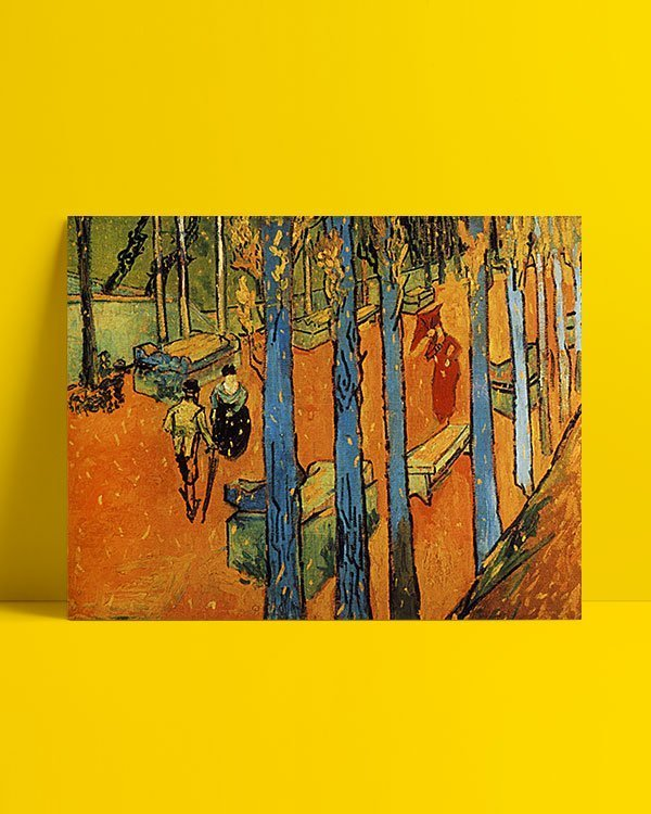 Vincent Van Gogh Les Alycamps, feuilles d'automne Afis