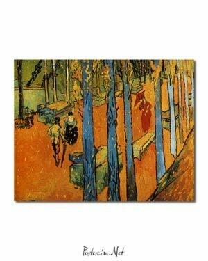Vincent Van Gogh Les Alycamps, feuilles d'automne Poster
